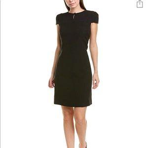 Anne Klein Short Sleeve Crepe Dress Black Size 16